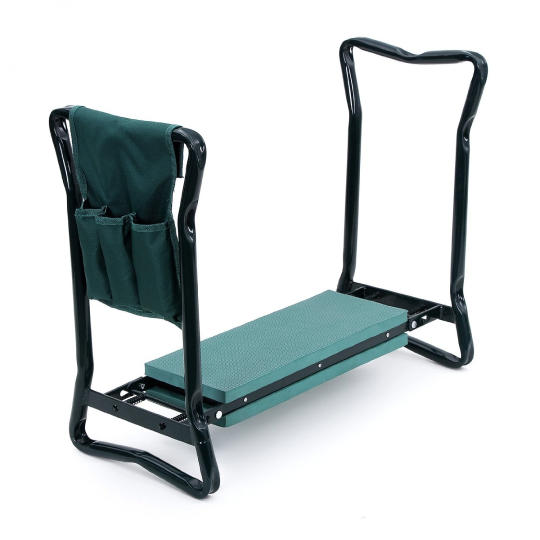 chair with kneeler little tykes table and chairs songmics foldable garden seat portable stool