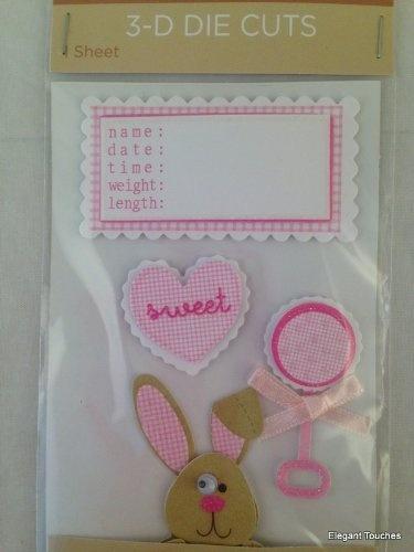 Baby Girl Dimensional 3D Scrapbook Die Cuts 99031GPE