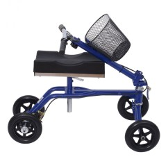 Knee Wheelchair Fabric To Cover Dining Room Chairs Homcom Steerable Walker Scooter With Basket Black