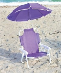 Kids' Beach Chair with Adjustable Umbrella - Purple by ...