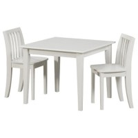 Solutions by Kids R Us Wood Table and Chair Set - White by ...