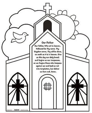 Youth Kids Colour Your Own Our Father Prayer Home