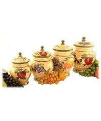 Tuscan Collection Deluxe Hand-Painted 4-Piece Kitchen ...