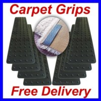 Pack Of 12 Stay In Place Rug To Carpet Mat Grips Grippers ...