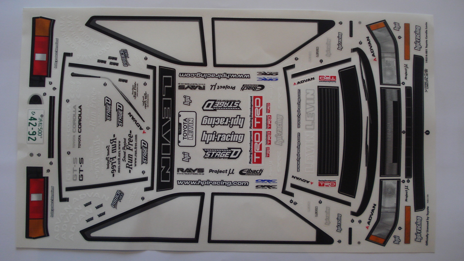 hight resolution of hpi toyota levin ae86 project d2 hpi toyota corolla levin sticker sheet