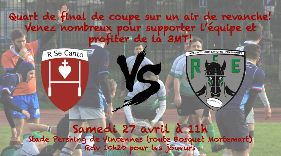 QUART DE FINAL DE COUPE Se Canto VS RC Epinay le 27 avril