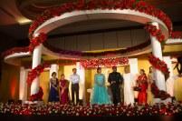 christian flower decor stage at crone plaza hotel kochi kerala