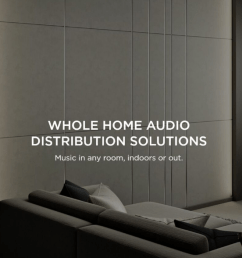 all wiring is hidden within the walls what you and your guests see are elegant keypads and speakers intelligently designed to blend with your d cor  [ 1419 x 588 Pixel ]