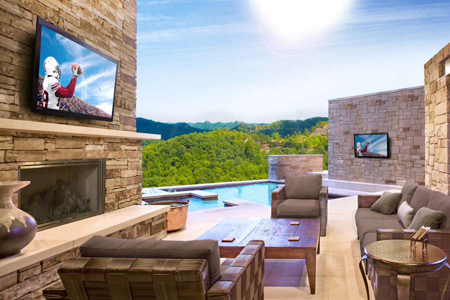 can i use my indoor tv outside in