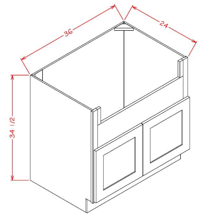 cambridge cherry farm sink or apron front 36 sink base cabinet
