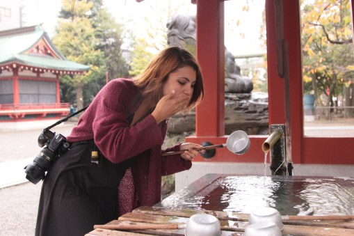 cleansing hands and mouth at Asakusa Temple
