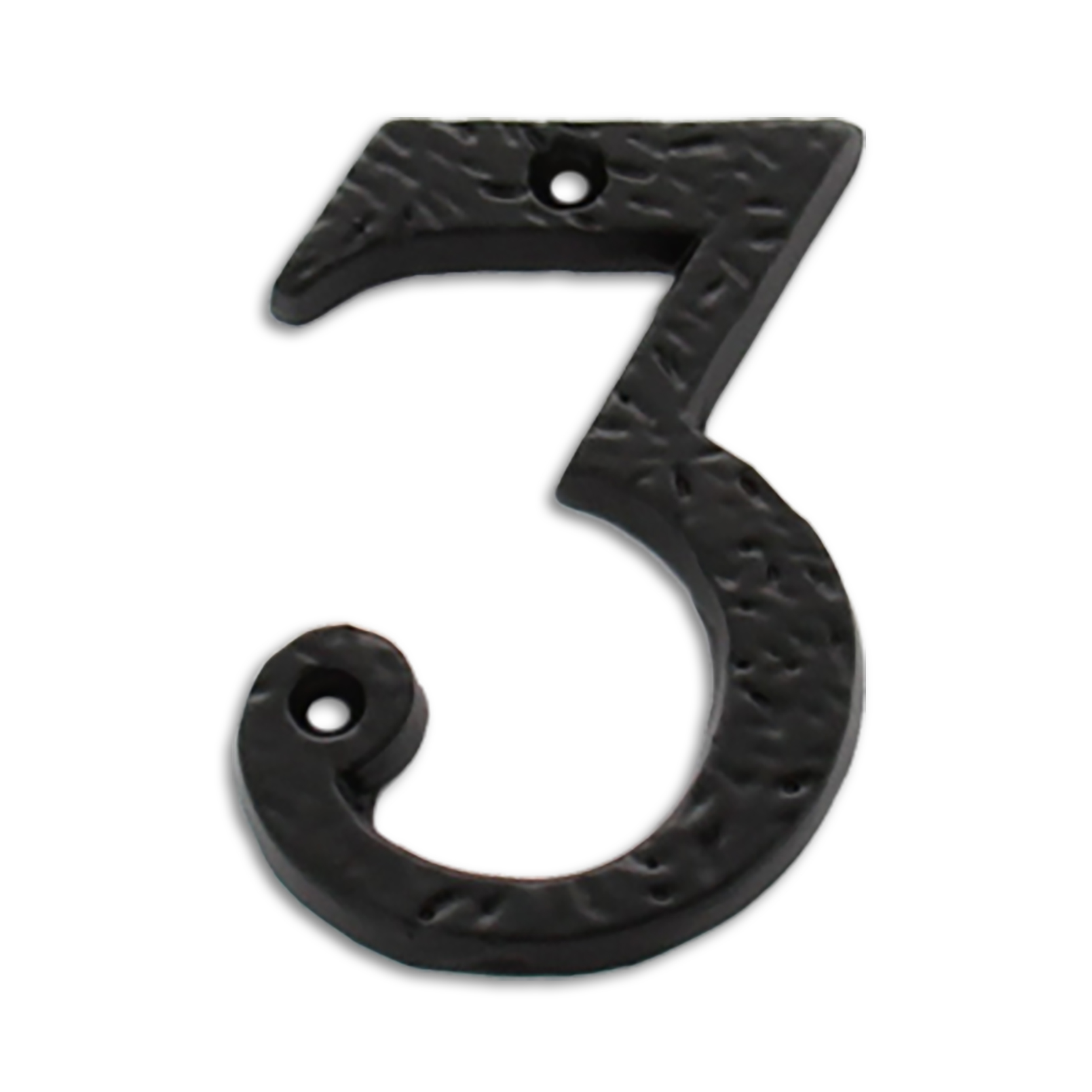 Exceptionnel 3 Inch Iron Metal House Number In Iron Black Finish   Metal Number 3