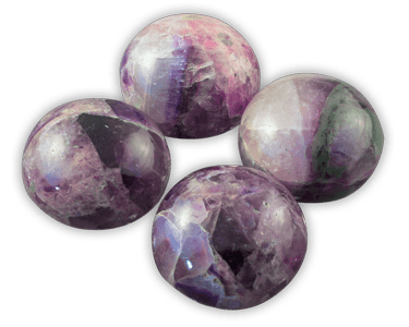 Elegance door knob and cabinet knobs are available in a variety of crystal and natural quartz materials including Amethyst.