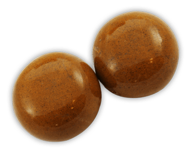 Elegance door knob and cabinet knobs are available in a variety of crystal and natural quartz materials including Camel Agate.