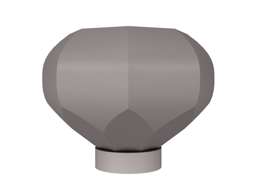 3D rendering of Elegance Octagonal large cabinet knobs.