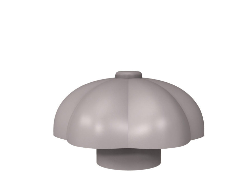 3D rendering of Elegance Pumpkin cabinet knobs.