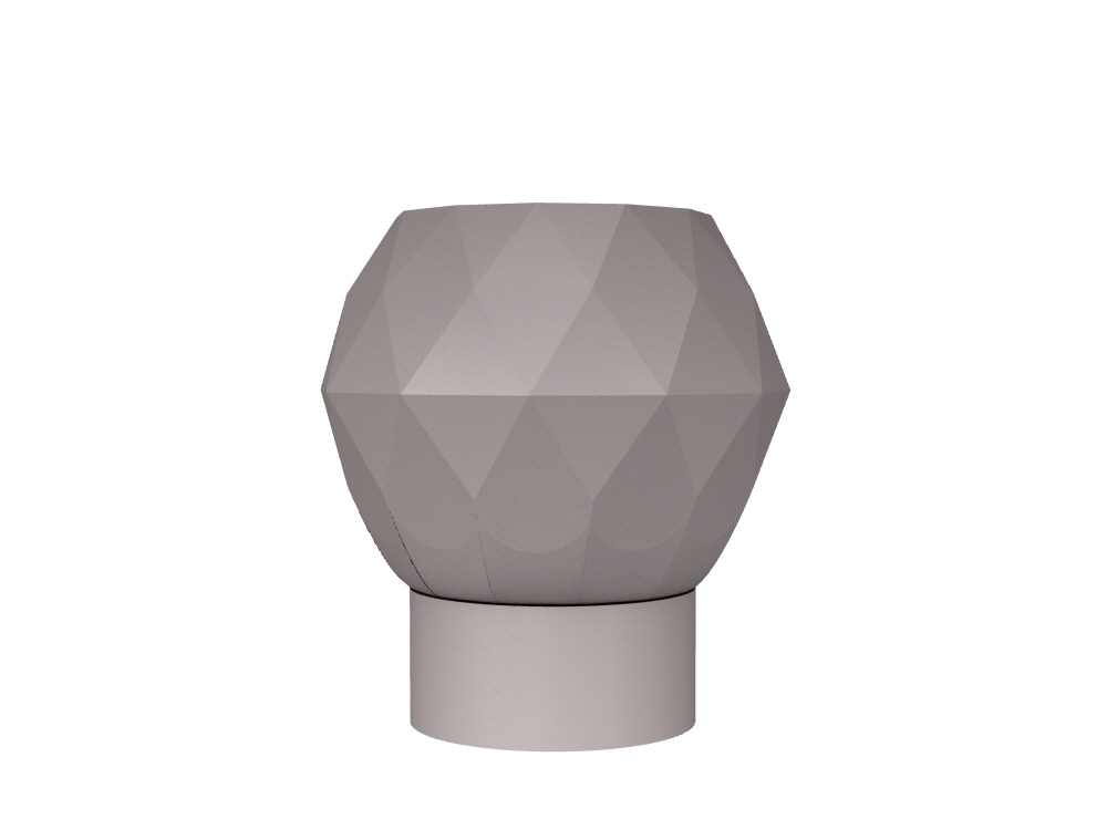 3D rendering of Elegance Tulip Diamond Small cabinet knobs.