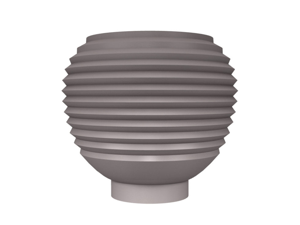 3D rendering of Elegance Tulip Ring cabinet knobs.