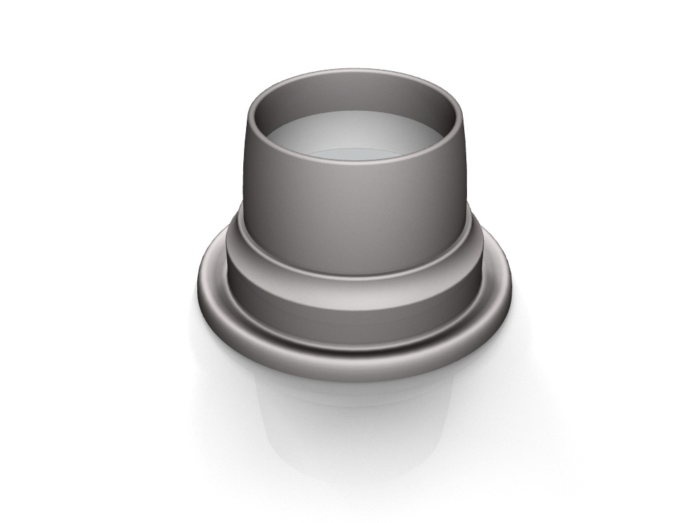 3D rendering of Elegance's Bell door knob base design