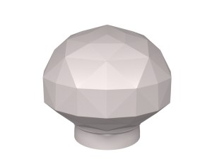 Diamond Cut door knob design for stone, glass and crystal door knobs