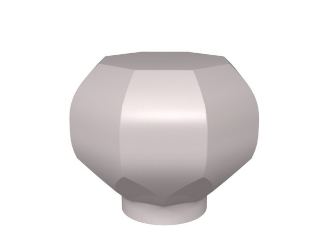 Octagonal door knob design for stone, glass and crystal door knobs