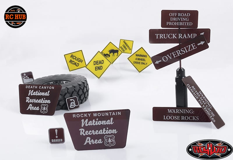RC4WD TOUGH TERRAIN SCALE SIGNS