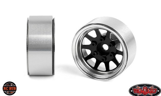 RC4WD OEM 6-LUG STAMPED STEEL 1.55″ BEADLOCK WHEELS