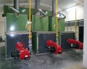ensemble chaudière Caldor et hydraulique complexe