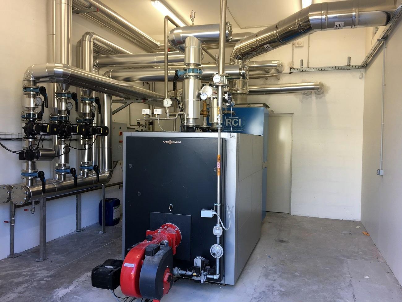 chaufferie industrielle eau chaude