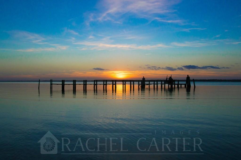 topsail beach sunset topsail pier
