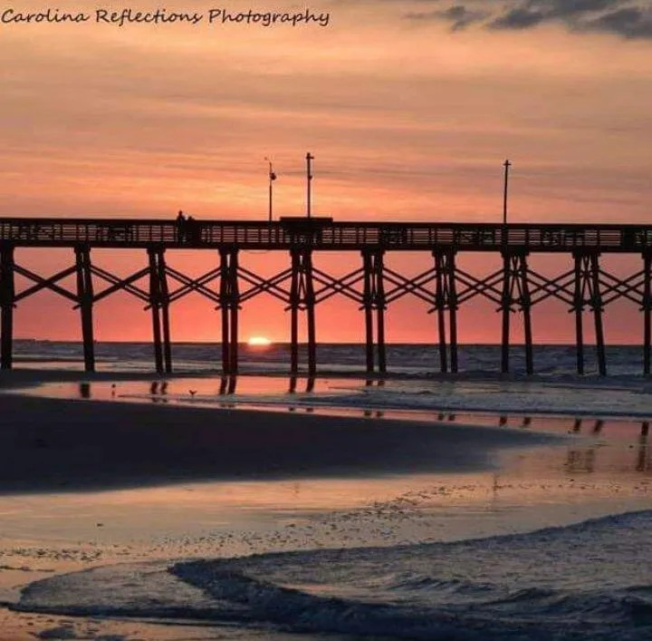 Sunrise at the Surf City Pier taken by Kathleen Alvis-Adams (Carolina Reflections Photography) - RCI Plus Topsail
