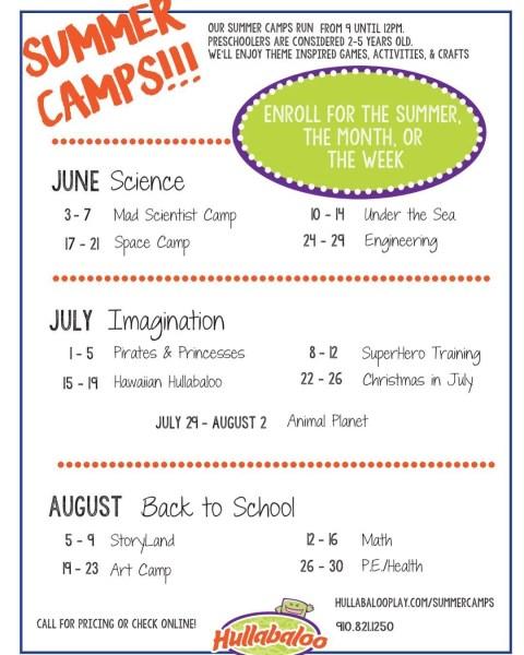hullabaloo summer camps 2019 - RCI Plus Topsail