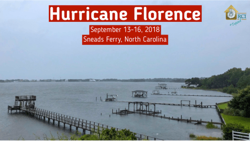 hurricane florence video - sneads ferry north carolina - rci plus topsail nc