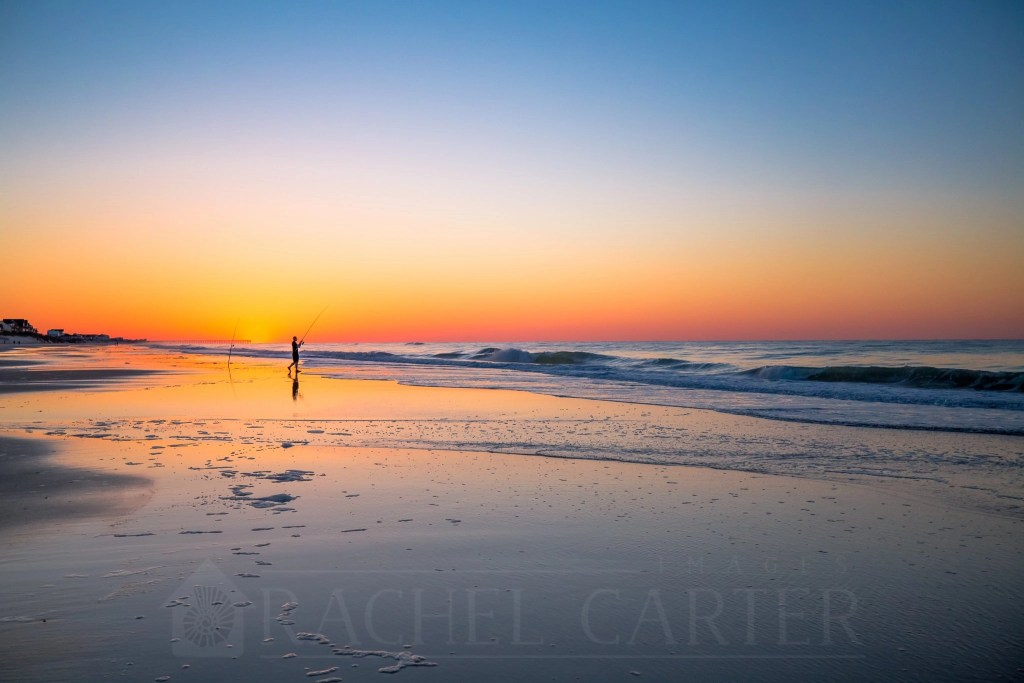 Sunrise on North Topsail Beach, taken with my  Canon EF 16-35mm f/2.8L III USM Lens - Rachel Carter Images