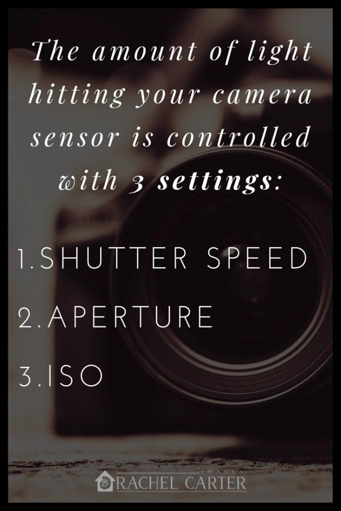 shutter speed, aperture, & iso - Rachel Carter Images