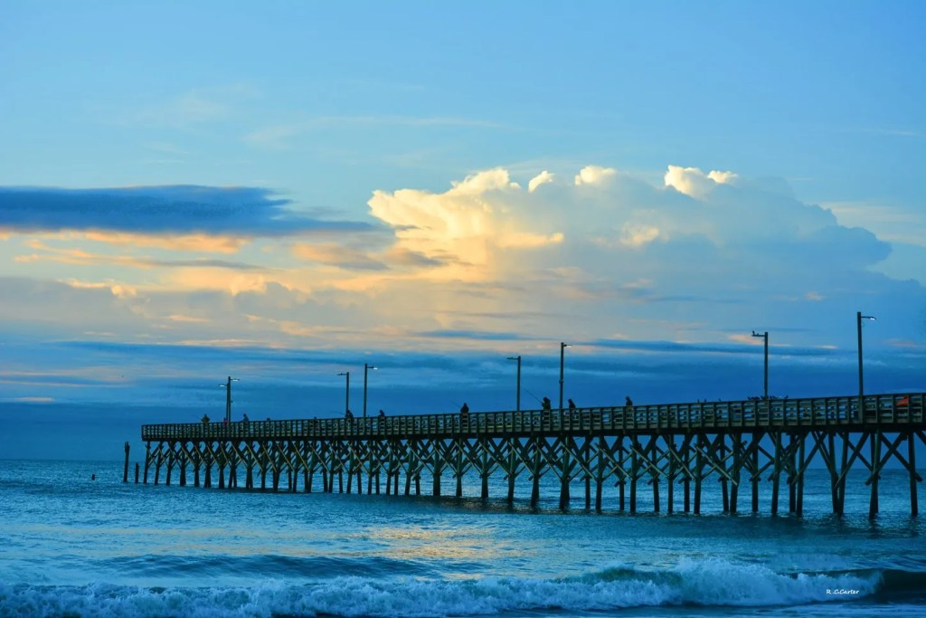 SeaView Pier Sunrise, North Topsail Beach, captured by Bob Carter