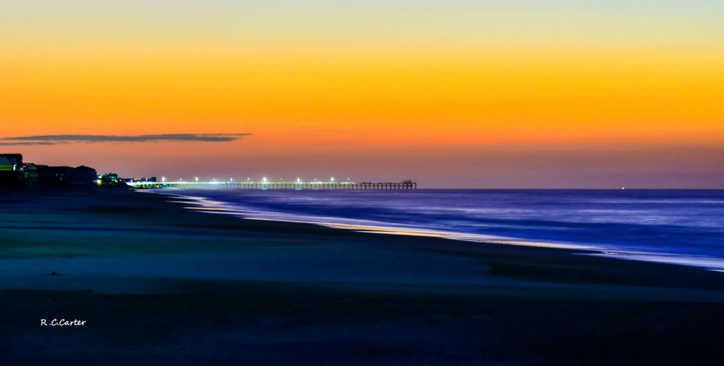 North Topsail Beach Sunrise, captured by Bob Carter