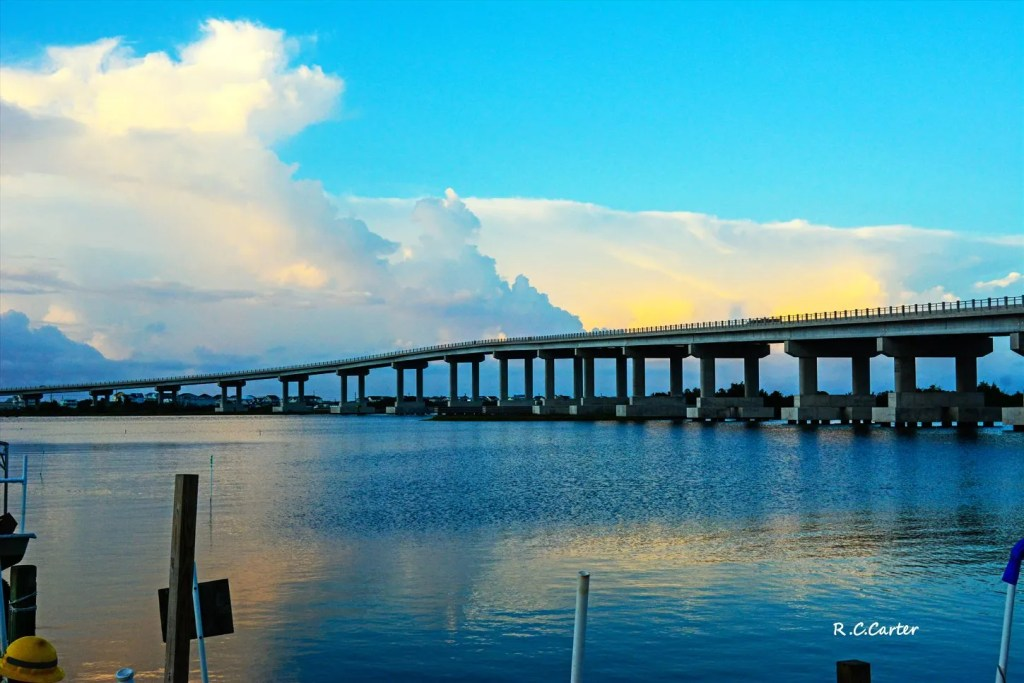 Surf City High Rise Bridge, July 2019, captured by Bob Carter