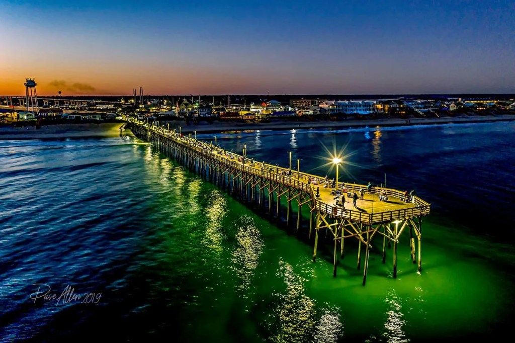 Surf City Pier at dusk captured by Dave Allen Nov 2019