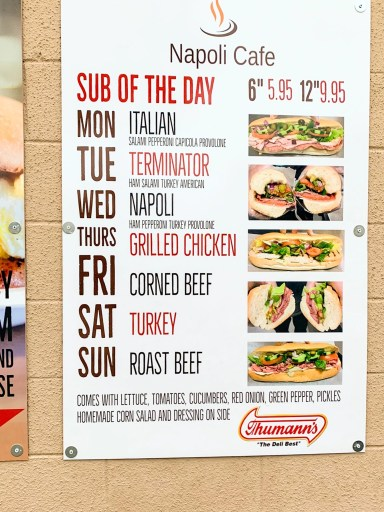 napoli cafe sneads ferry nc sub of the day