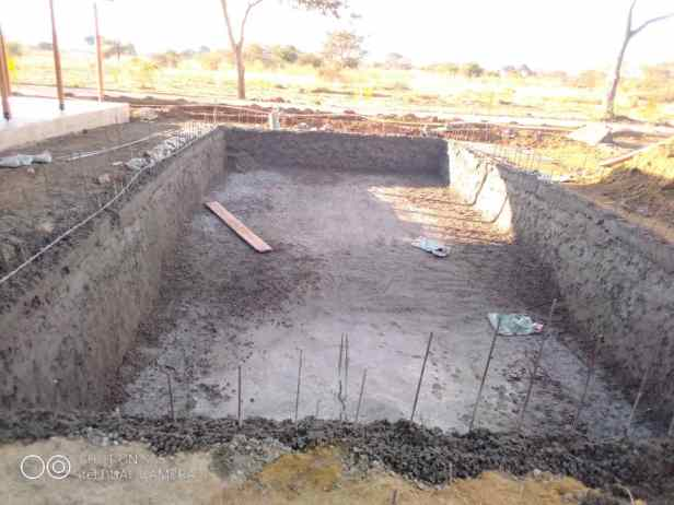 2a. Pool construction in progress