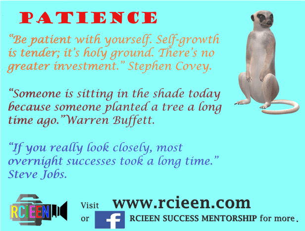 Motivational quotes on patience.