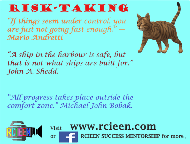Motivational quotes on risk-taking.