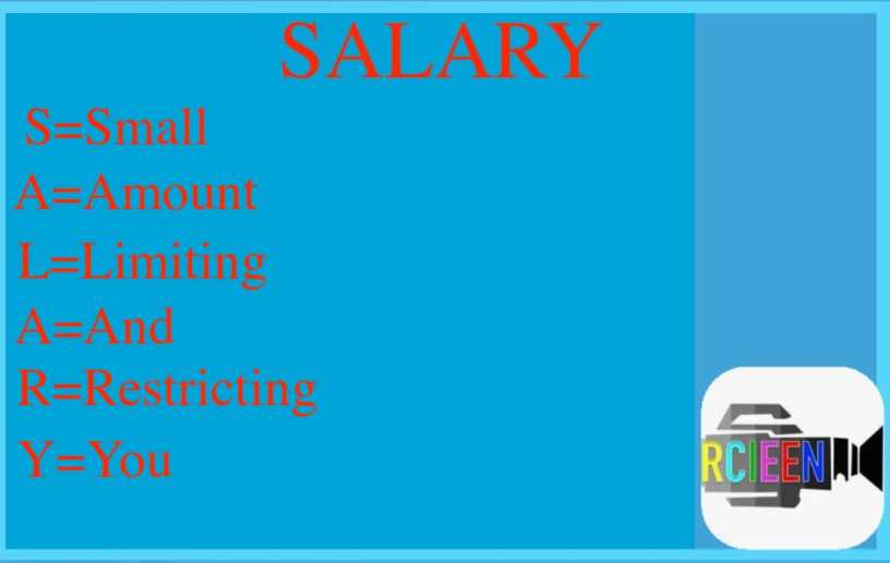 Meaning of salary