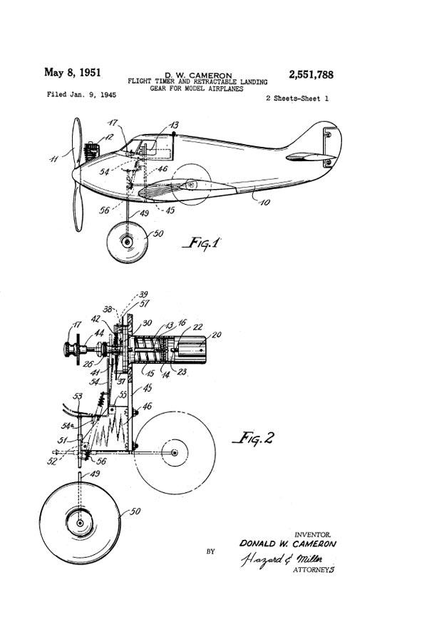 RCLibrary : Patent: Flight Timer & Retractable Landing