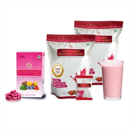 Nutricharge Woman and Strawberry ProDiet Doy Pack