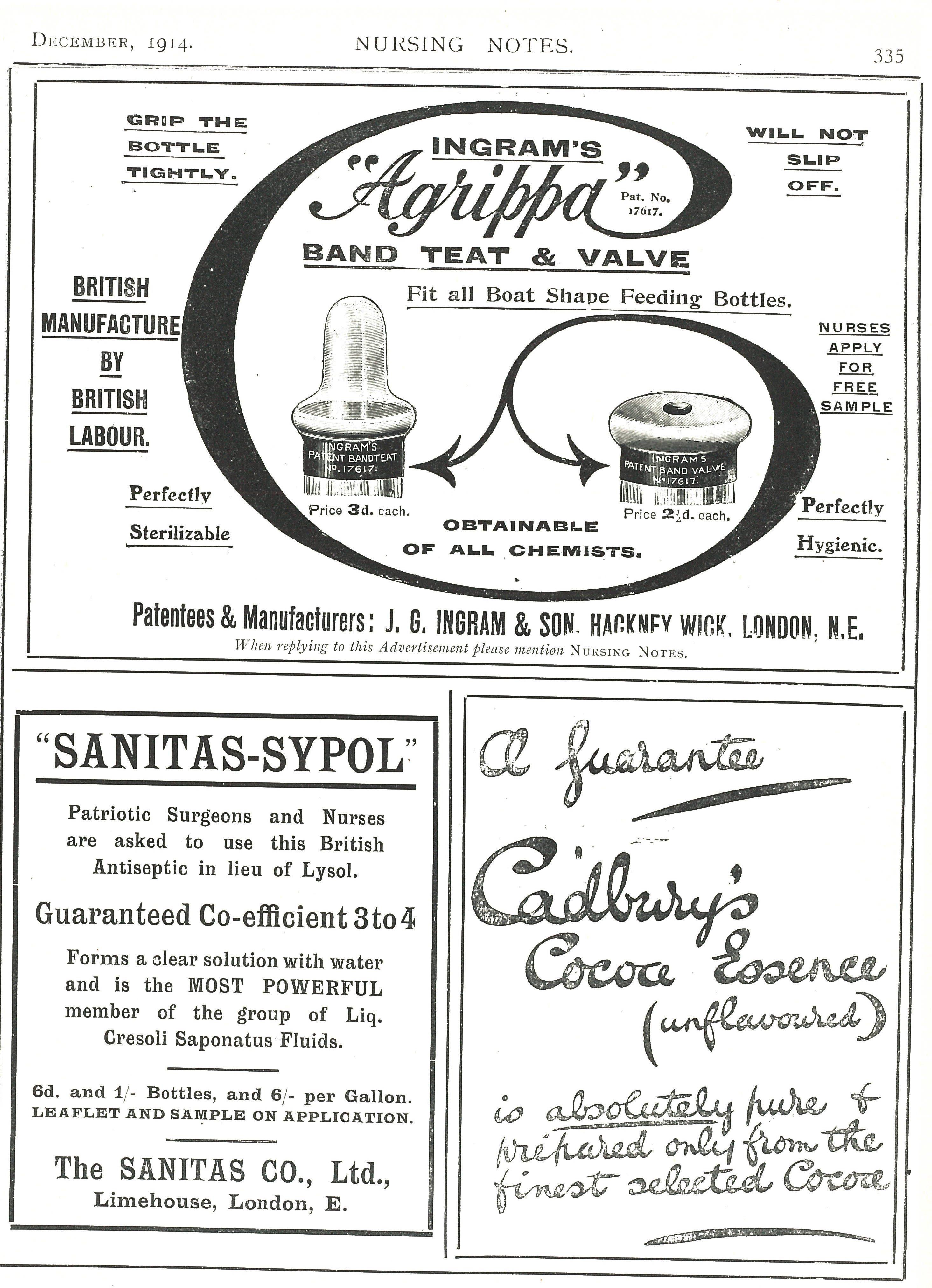 Nursing Notes, December 1914