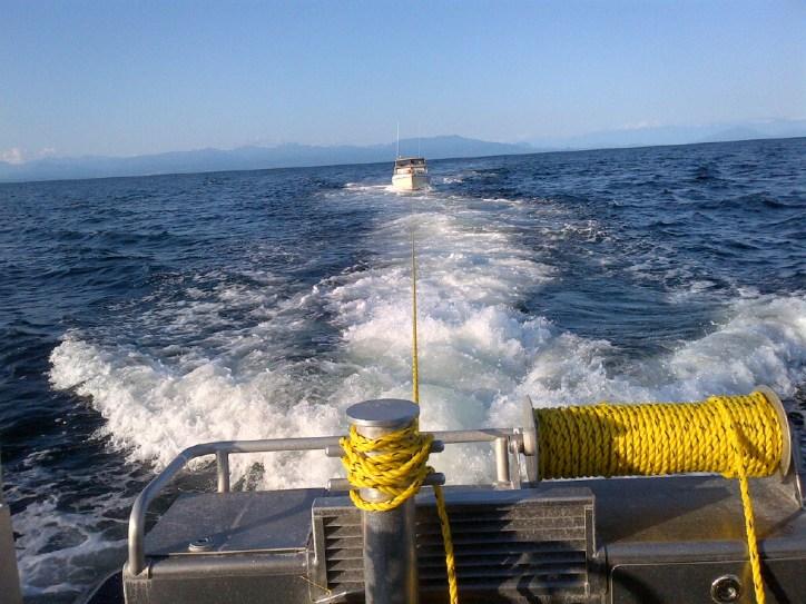 Towing tasking RCMSAR Station 34 Mill Bay