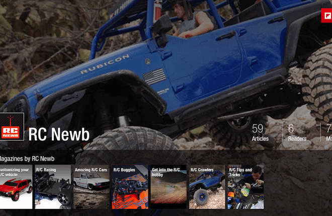 Need something to read? Check out our R/C Flipboard magazines.