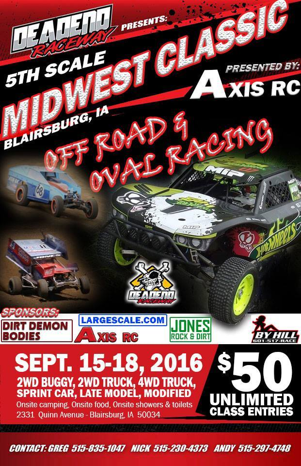 Axis RC Presents the 2016 5th Scale Midwest Classic - RC Newb
